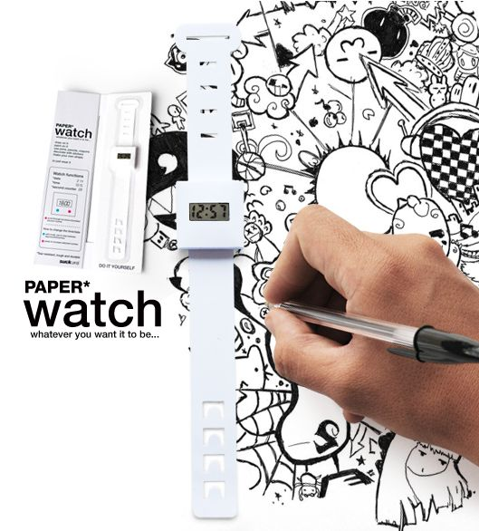Paper Watch via migurski / just bought several of these