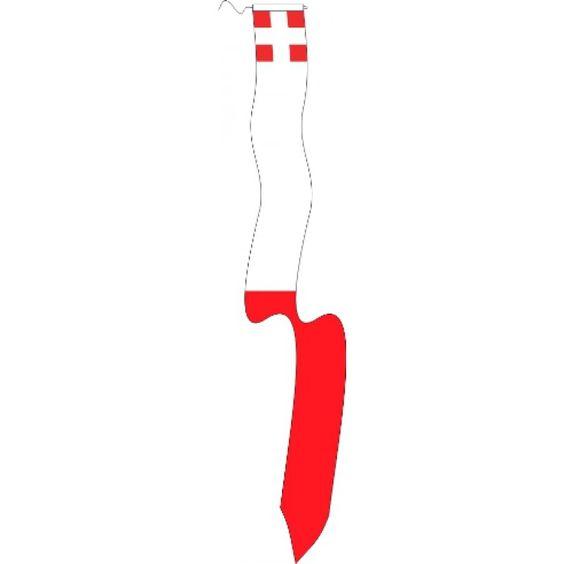 Wimpel Utrecht 25x300cm met koord en lus. Geschikt voor mast van 5-6m. Met stokje, materiaal pavillon. Een wimpel van de provincie Utrecht mag altijd buiten blijven hangen en wordt gebruikt als teken van gastvrijheid en verwelkoming.