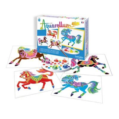 Sentosphere Usa Aquarellum Junior Horses Coloring Kit Multi