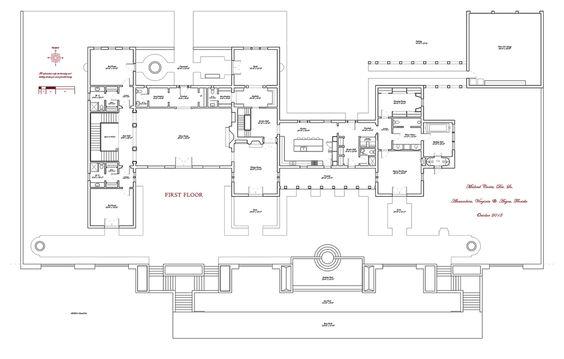 Mediterranean Style House Plan - 6 Beds 105 Baths 16235 Sq/Ft Plan
