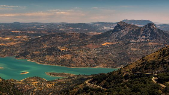 Andalucian landscape - A view on the road to Ronda, near the village of Monte Corto in the Sierra de Cadiz. I hope you like