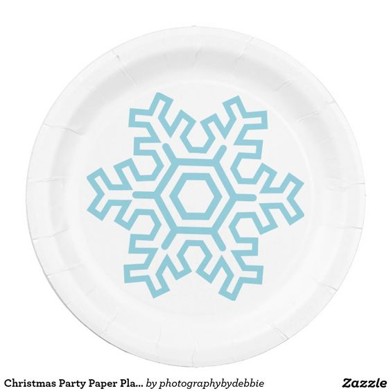 Christmas Party Paper Plates Part - 32: Christmas Party Paper Plate-Snowflake Paper Plate
