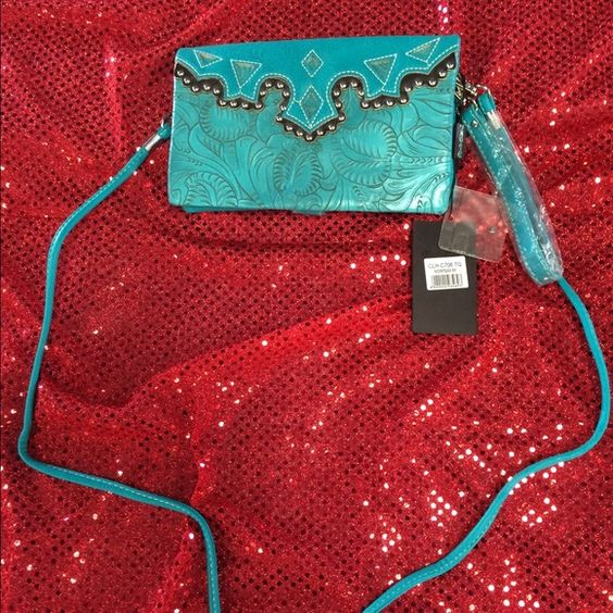 New Crossbody clutch Both straps included Rustic Couture Bags Clutches & Wristlets