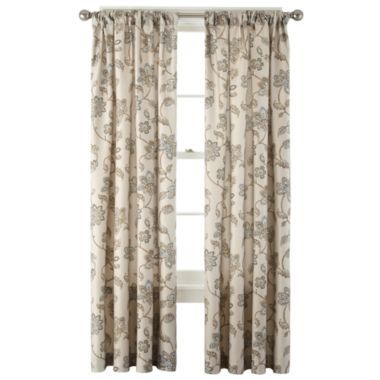 Curtains Ideas curtains jcpenney home collection : Home™ Bedford Rod-Pocket/Back-Tab Curtain Panel | Home, Bedford ...