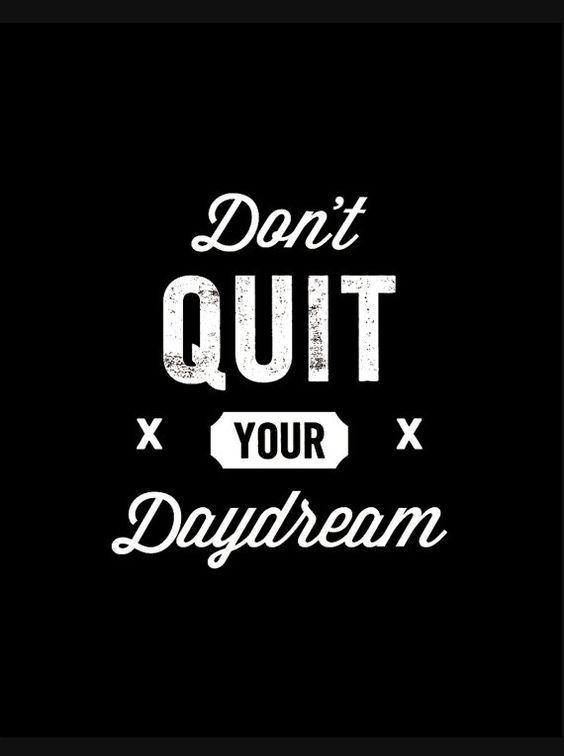 Inspirational Quote Typography Poster Don't door TheMotivatedType