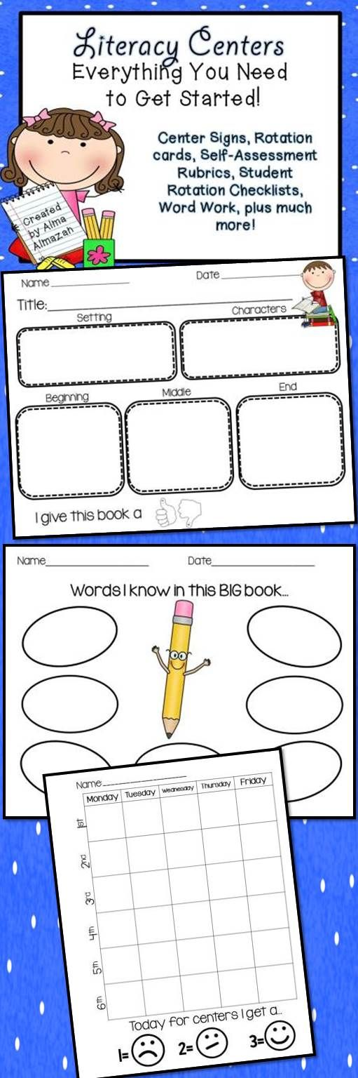 Literacy Centers Everything You Need to Get Started Self