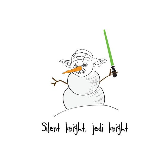 'Silent Knight, Jedi Knight' Star Wars Christmas Card | Notonthehighstreet