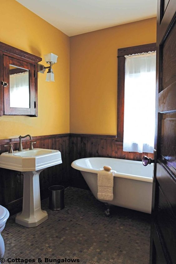 Toilets pedestal and cabinets on pinterest for Californian bungalow bathroom ideas