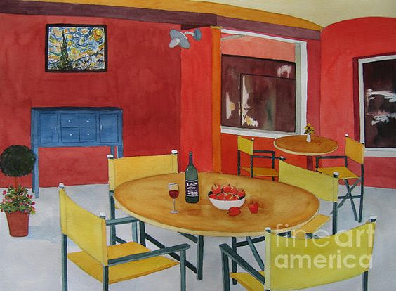 Tapis Chambre Bebe Ourson : Retro Rouge Canvas Print  Canvas Art by Vicki Brevell  A Restaurant
