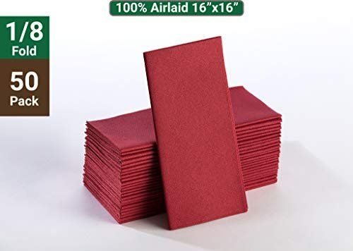 Amazon Com Burgundy Napkins Linen Feel Guest Disposable Cloth Like Paper Dinner Napkins Hand Towels Soft Absorbent Paper Han Paper Dinner Napkins Linen Napkins Dinner Napkins