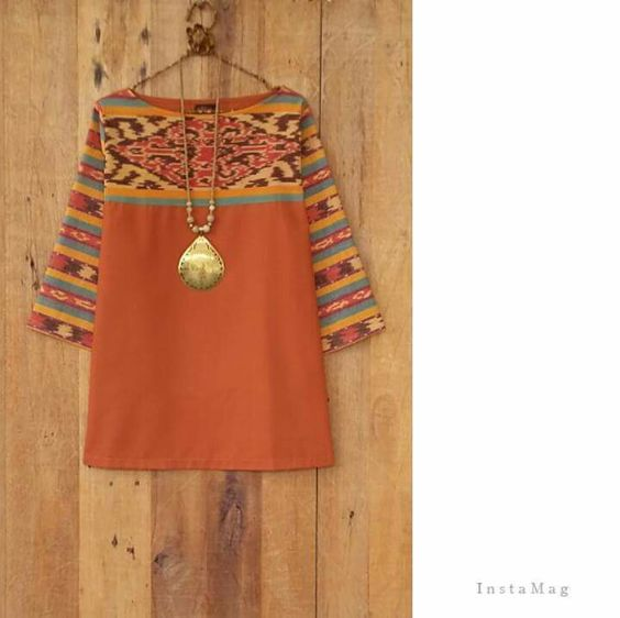 Stitch fix : love short and necklace :combined tenun and ...