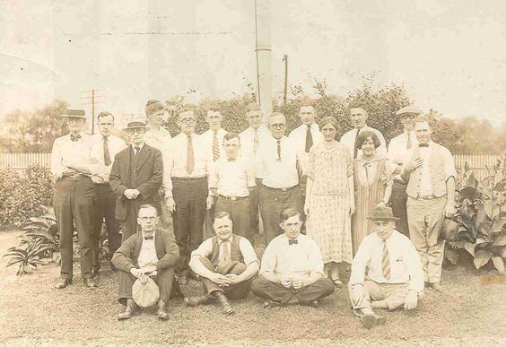 Employees of the American Sheet and Tin Plate Manufacturing Company.