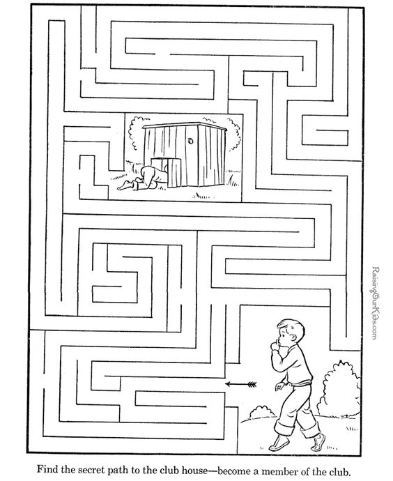 Activities Maze And Printables On Pinterest
