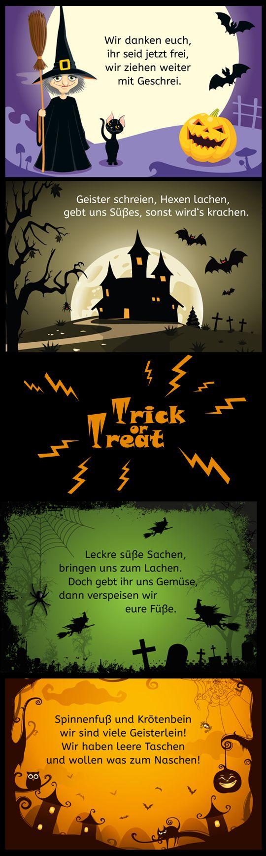 Trick or treat: Schaurig lustige Halloween-Sprüche für Kinder #halloween