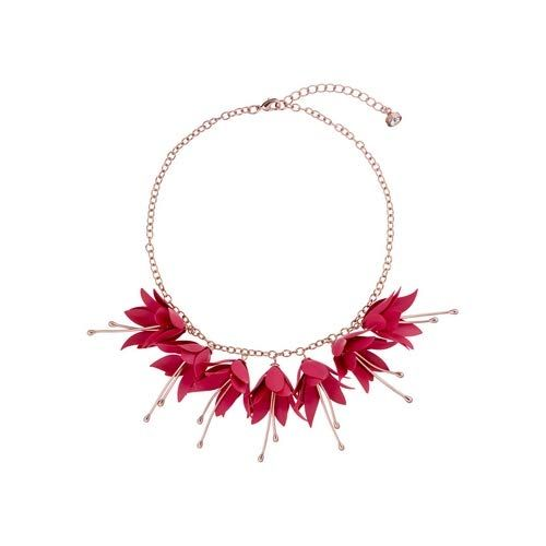 Ted Baker Fawna Fuchsia Drop Flower Necklace Rose Gold Fuchsia Fuchsia Necklace Rose Gold Necklace Flower Necklace
