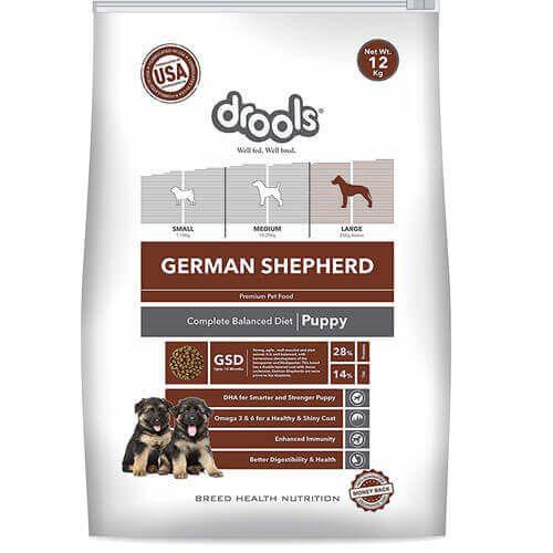 Drools German Shepherd Puppy Premium Dog Food 12kg 4petneeds