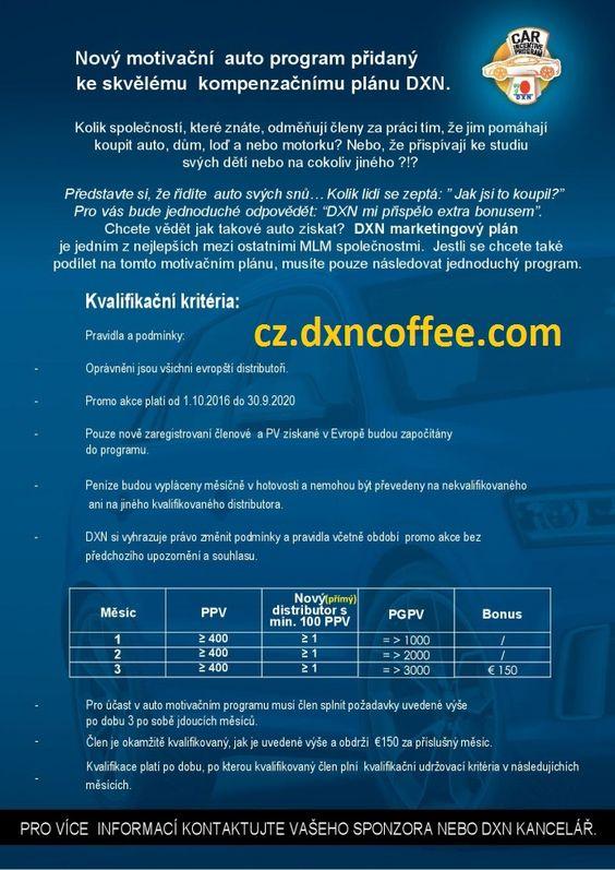 Začít vydělávat více peněz, aby si svůj sen vůz s DXN