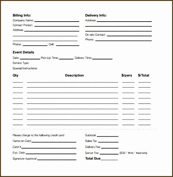 Office Lunch Order Form Template Awesome Catering Order Form Renainestar Estimate Template Deep Cleaning Checklist Ticket Template Printable