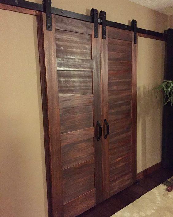 Bedroom walk in closet doors love the 5 panel doors with for Walk in closet doors