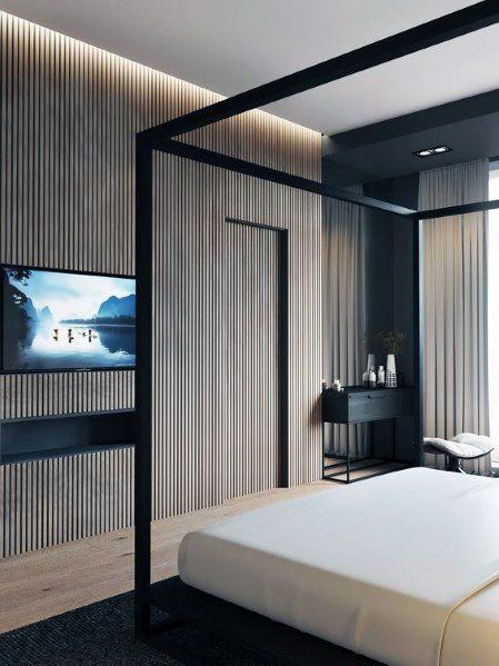 Top 70 Best Wood Wall Ideas Wooden Accent Interiors Luxurious Bedrooms Luxury Bedroom Master Master Bedroom Interior