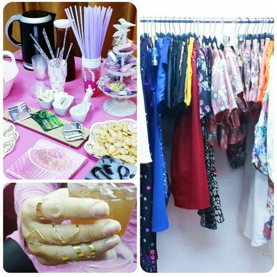 Comprando y tomando Té en Party Tea con Iconicas #te #tea #anillo #mesa #ropa #moda