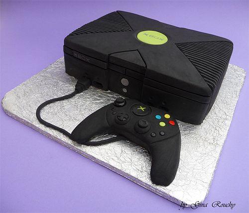 X box game consolel cake design