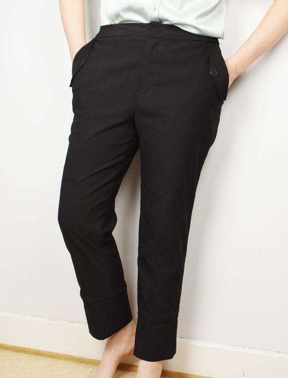 Burdastyle cigarette trousers 04-2016-117 - Sewing pattern