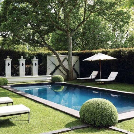 Amazing And Stylish Ways To Achieve More Backyard Privacy Swimming Pools Backyard Pool Landscaping Backyard Pool