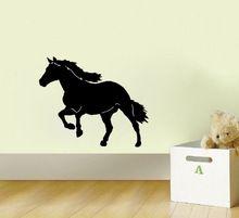 Big Western Horse stickers muraux citations chambre d'enfants décoration vinyle pépinière stickers muraux enfants wall sticker murales(China (Mainland))