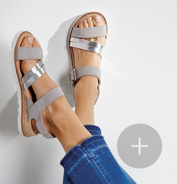 leila suede/leather sandals