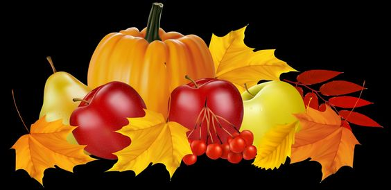 Pumpkin and fruit png