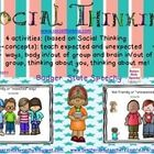 These activities are based upon  concepts and vocabulary from  Michelle Garcia  Winner's  Social Thinking (r) curriculum at www,socialthinking.com....