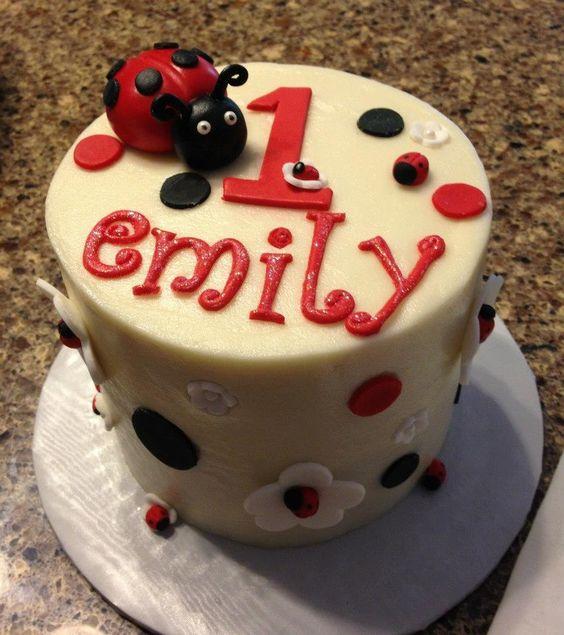 Ladybug smash cake  www.betniebakes.com: