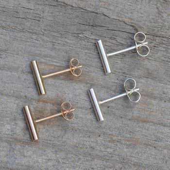 I've always wanted gold bar earrings like these
