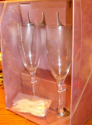 50th Wedding Anniversary flutes glasses Hortense B Hewitt, Co. years NOS  Click on picture for ebay listing