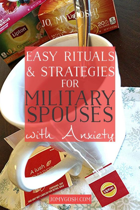 A few ways I've learned to deal with anxiety as a military spouse. #spon