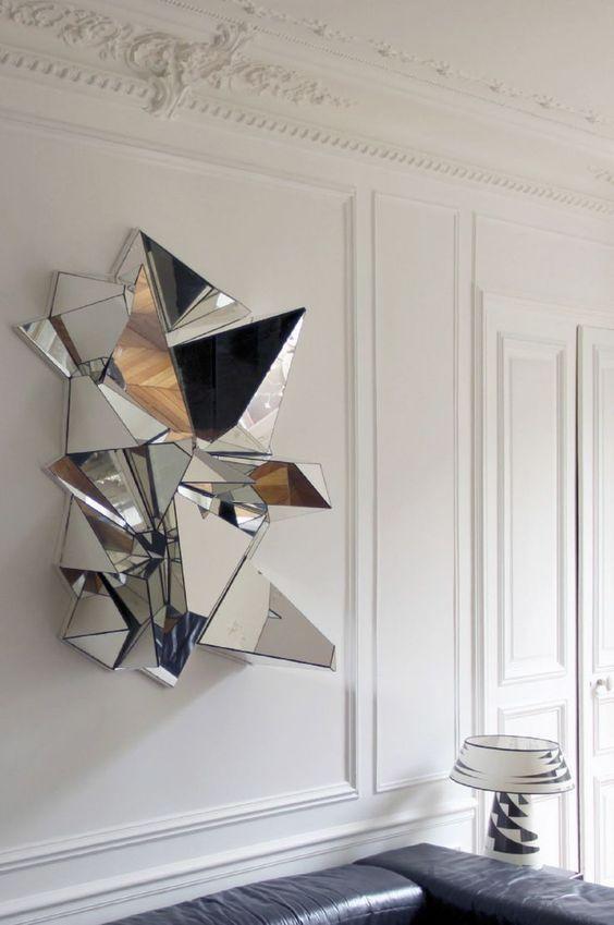 57 3 D Wall Art Geometric Mirror Mirror Wall Art Metal Tree Wall Art