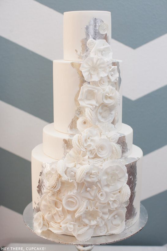 Winter White Wedding Cake | by Hey There, Cupcake!