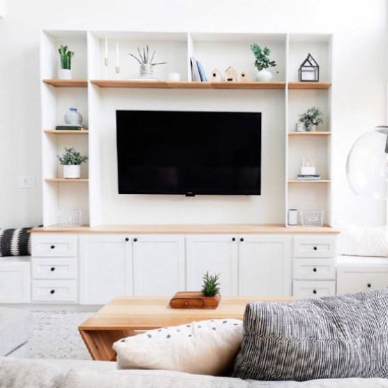 Built In Entertainment Center Have An Empty Wall Build An Entertainment Ce Living Room Entertainment Center Living Room Wall Units Home Entertainment Centers