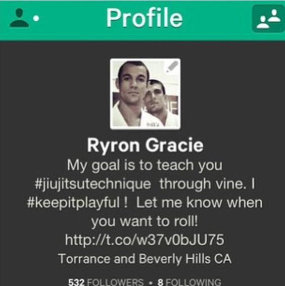 Ryron Gracie on Vine!