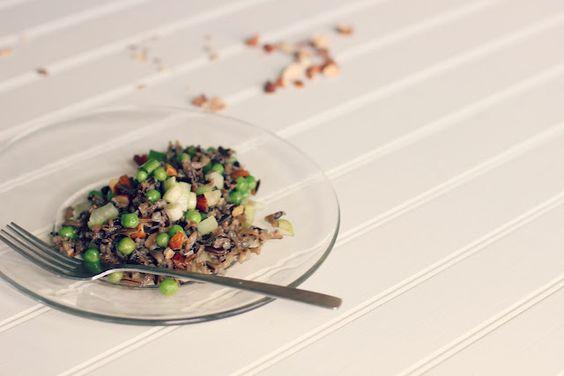 nutty wild rice salad   the vanilla bean blog
