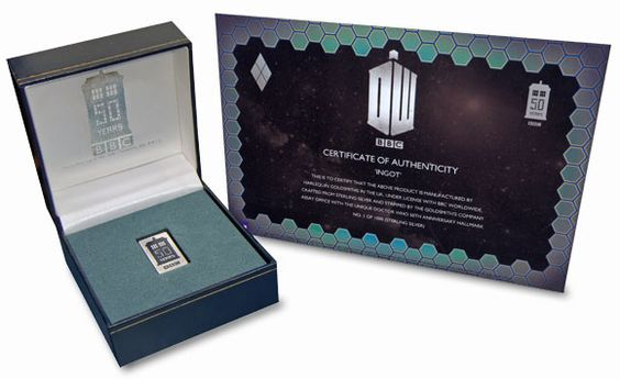 Harlequin Goldsmiths Commemorative Silver Ingot and Certificate of Authenticity.
