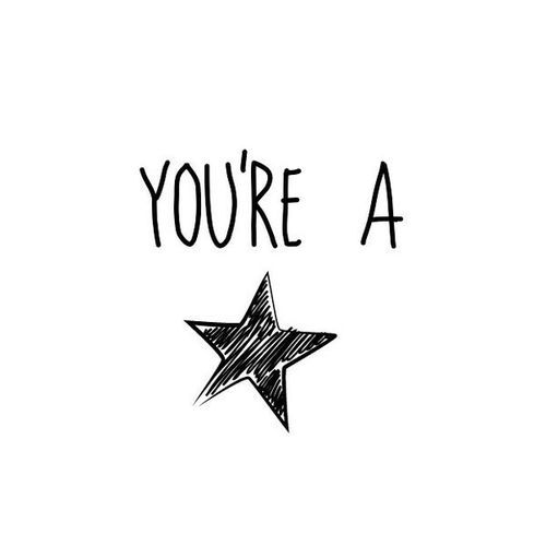You're a star! ★ #star qoute #ChristmasWishes