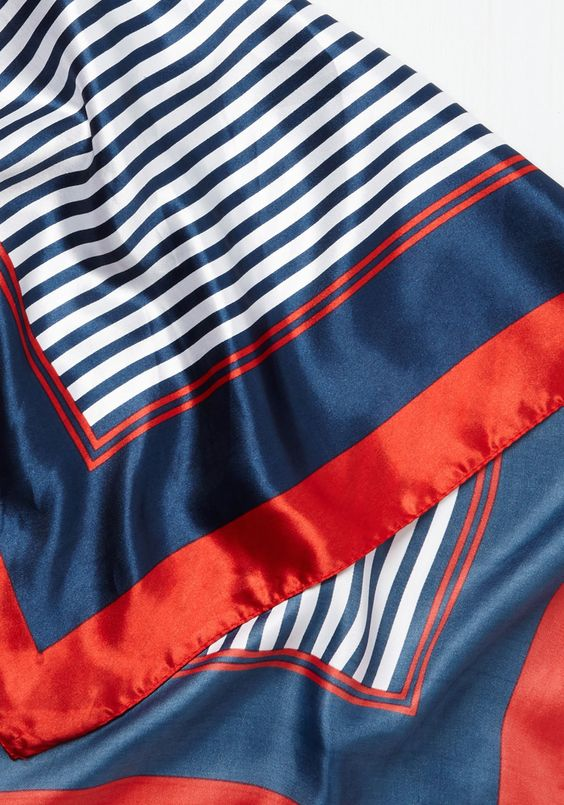 Up-to-Mate Scarf. Youre totally in the know about what looks are currently cool - and, nodding to the latest with this nautical scarf, you also embody a look thats entirely retro. #blue #modcloth