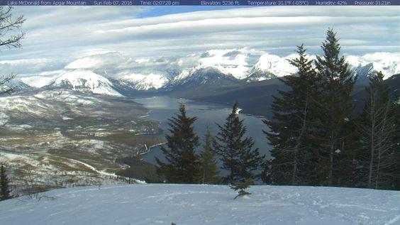 Apgar Mountain Webcam