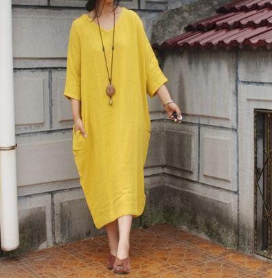 Ballonkleider - Sommer-lose große Yards Baumwollkleid  - ein Designerstück von DuDuFashion bei DaWanda