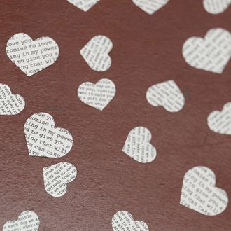 Vintage Affair Confetti  Code: DAVA  Our Romantic and delicate heart shaped vintage love poem confetti has around 250 pieces in a pack. The confetti is printed on both sides and is a mixture of small and medium sized hearts. £2.25