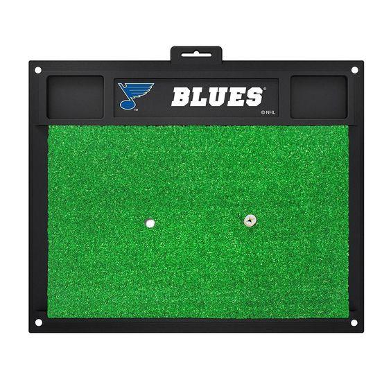 St. Louis Blues NHL Golf Hitting Mat (20in L x 17in W)