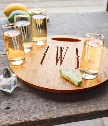 personalized tequila shooter board
