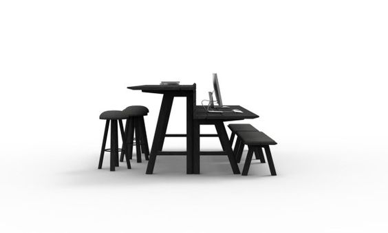 BuzziPicNic by Alain Gilles for BuzziSpace | Indoor Picnic Tables for Work, Gathering, Eating or Play | Design Milk